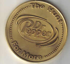 DR PEPPER GOLD COINS