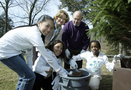 GIRL SCOUTS TREE PLANTING