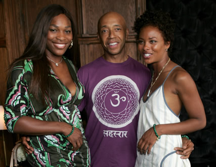 Russell Simmons, Serena Williams, Eva Pigford
