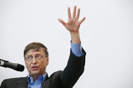 Microsoft Gates DAVOS SWITZERLAND