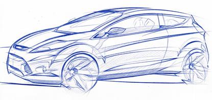 Ford Verve Concept Sketch