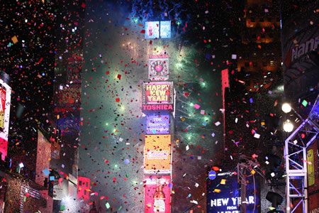 New Year, New York, Global Giants