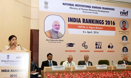 Image result for University Rankings released by HRD Ministry