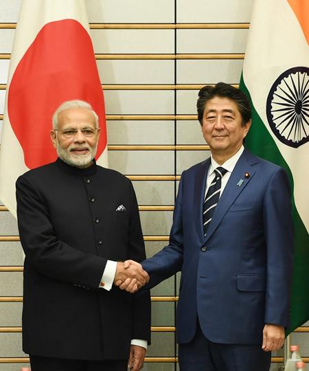 Modi, Japan, India