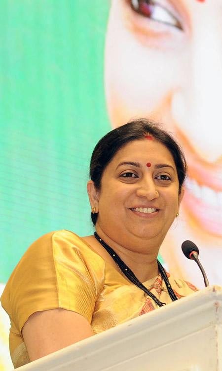 Smriti Irani, Minister, India
