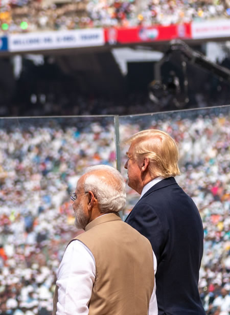 President Trump in India