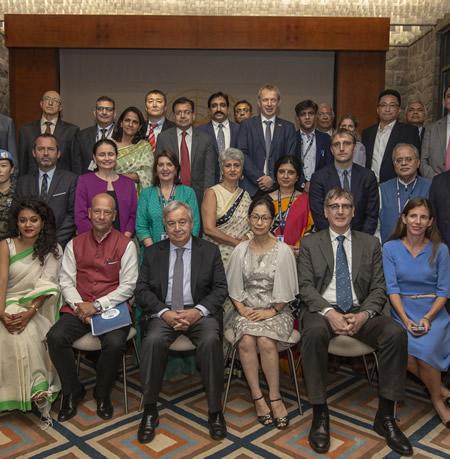 UN Secretary-General Visits India