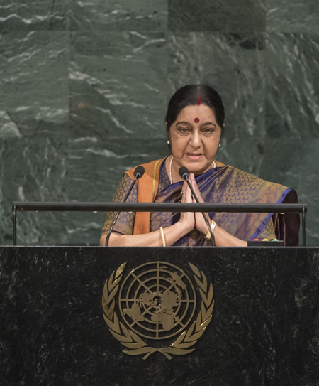 United Nations, Sushma Swaraj