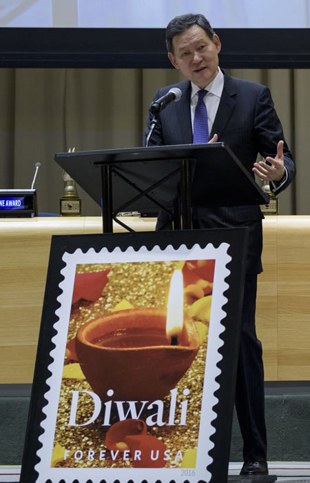 United Nations, USA, Diwali Stamp