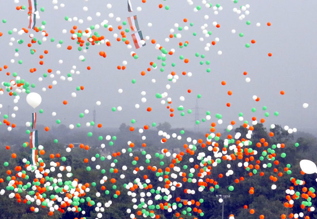 Tricolor Balloons, India, Independence day