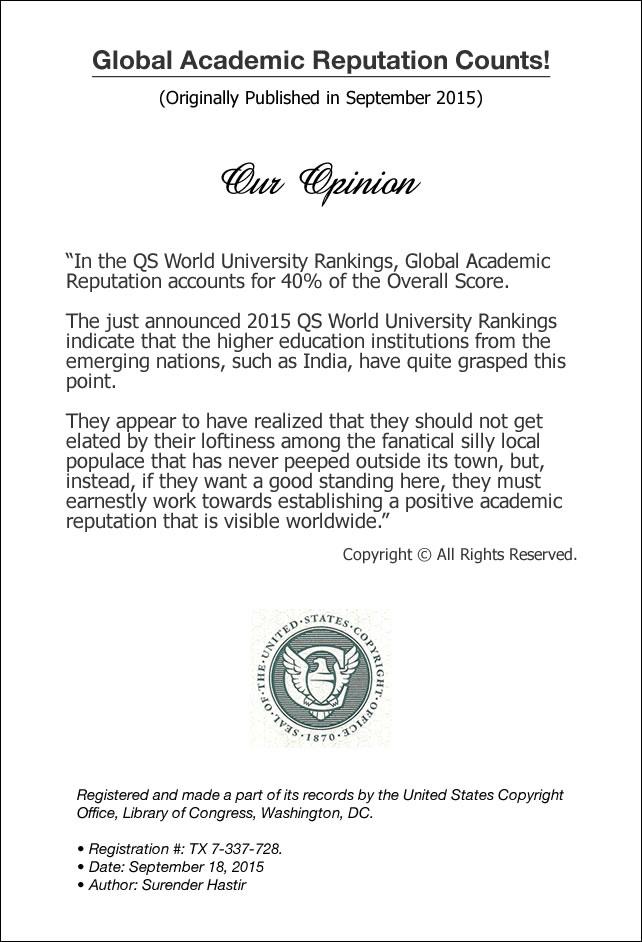 QS University Rankings USA