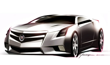 Cadillac CTS Coupe<br /> Sketch
