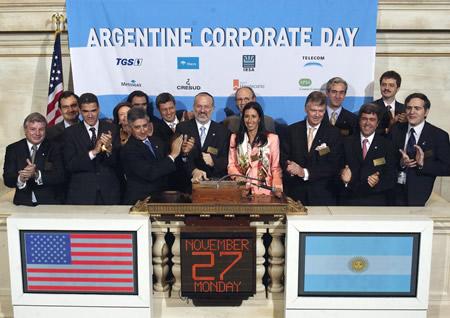ARGENTINA NYSE, New York Stock Exchange