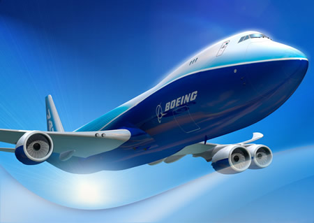 Boeing 747-8 Commercial Airplane