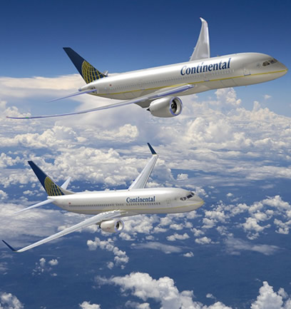 Boeing Company Continental Airlines 787 Dreamliner