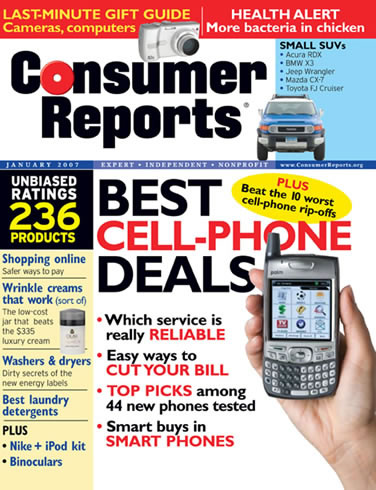 CONSUMER REPORTS JANUARY 2007