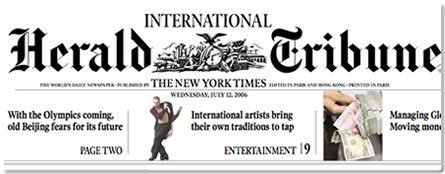 IHT International Herald Tribune