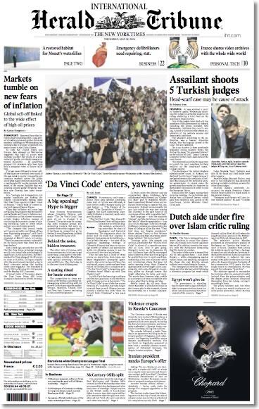IHT International Herald Tribune NYT New York Times