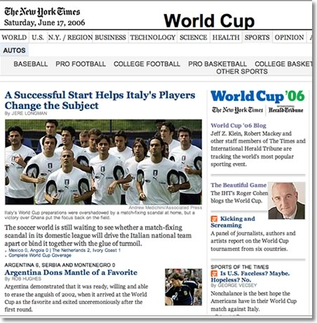 The New York Times FIFA World Cup