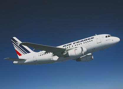 a318 airbus airfrance commercial airplane