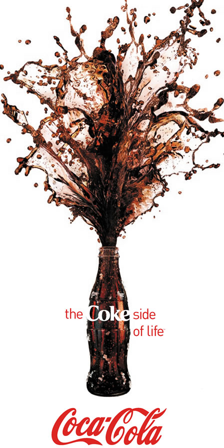 Coca-Cola liquid splash campaign